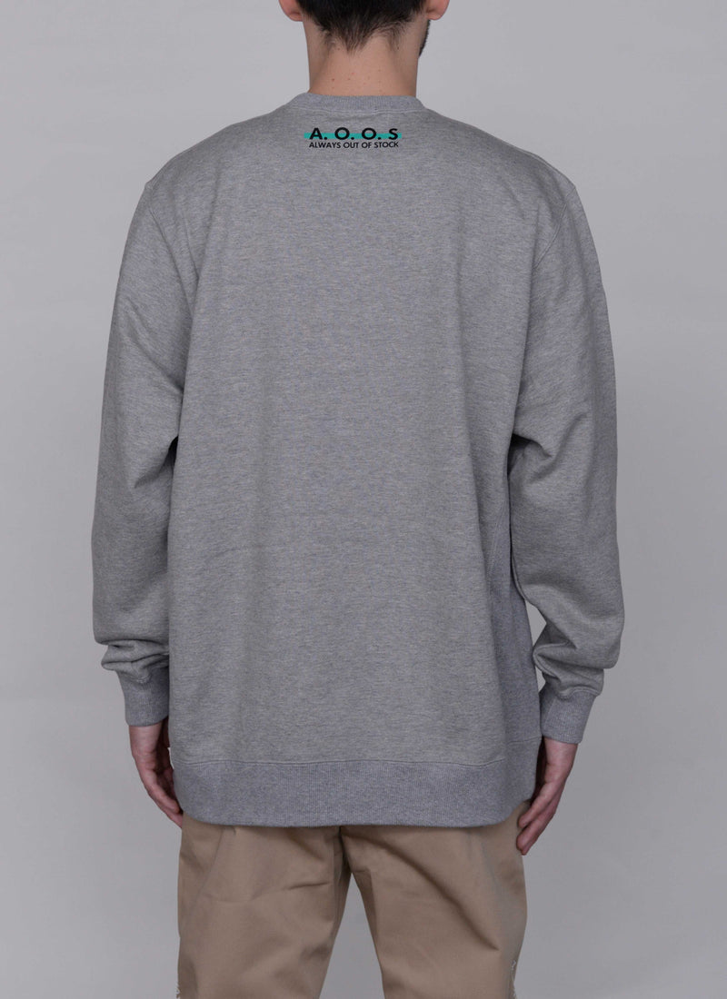 SPLASH LOGO CREWNECK-GREY