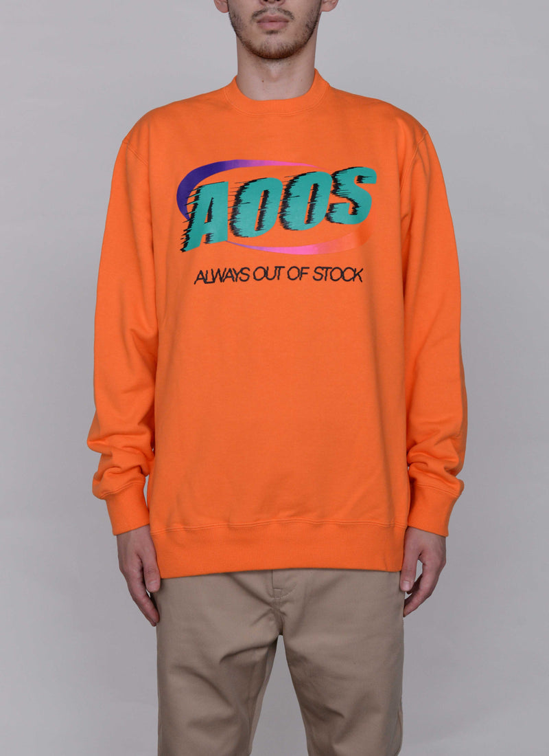 SPLASH LOGO CREWNECK-ORANGE
