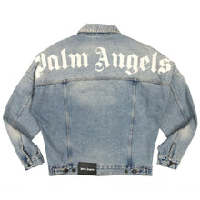 画像をギャラリービューアに読み込む, 【Palm Angels】LOGO OVER DENIM JKT LIGHT BLUE WHITE
