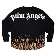 画像をギャラリービューアに読み込む, 【Palm Angels】TIGER FLAMES LOGO OVER TEE LS BLACK ORANGE