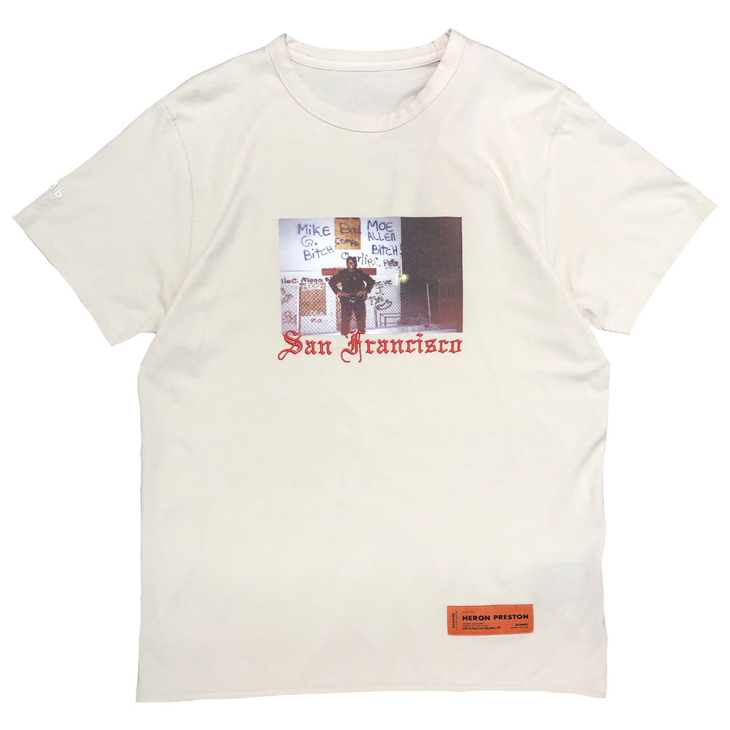 【HERON PRESTON】T-SHIRT REG HERON DAD SAND MULTICOLOR