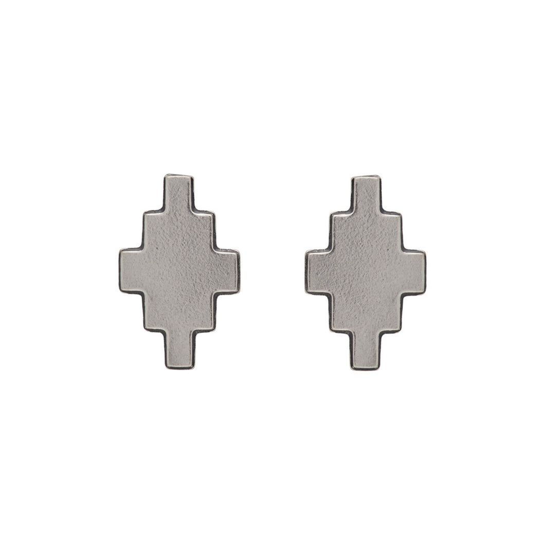 【MARCELO BURLON】CROSS EARRINGS SILVER NO COLOR