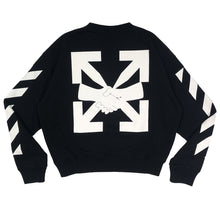Load image into Gallery viewer, 【Off-White】DIAG AGREEMENT OVER CREWNECK BLACK WHITE