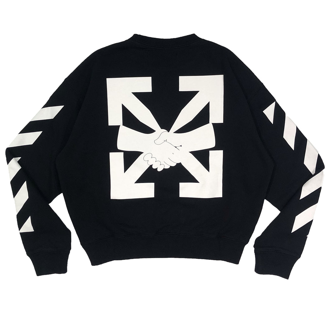 【Off-White】DIAG AGREEMENT OVER CREWNECK BLACK WHITE