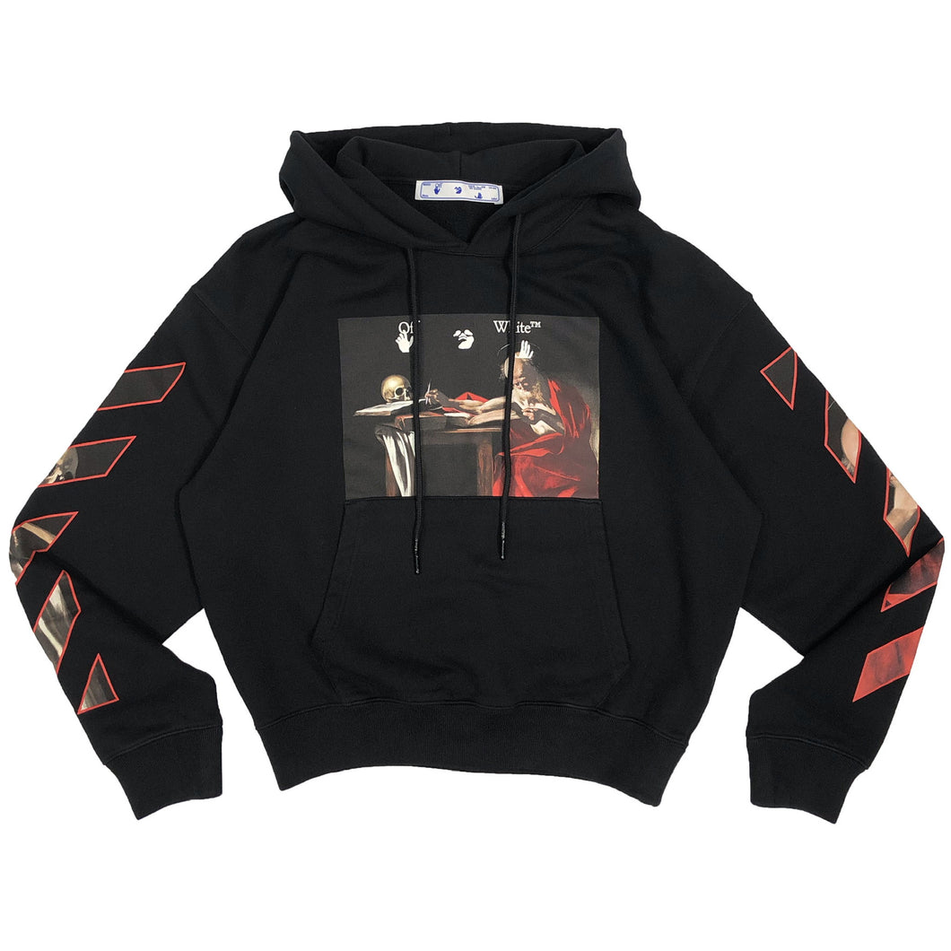 【Off-White】CARAVAGGIO OVER HOODIE BLACK RED