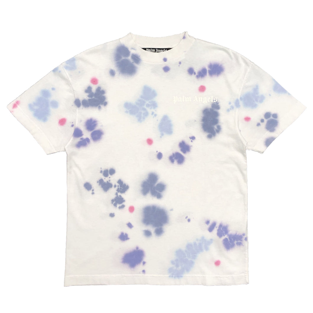 【Palm Angels】TIE DYE NEW BASIC TEE WHITE MULTICOLOR
