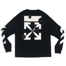 画像をギャラリービューアに読み込む, 【Off-White】DIAG CUT HERE DOUBLE SLEEVE TEE BLACK WHITE