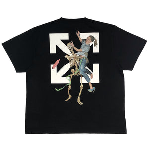 【Off-White】PASCAL SKELETON S/S OVER TEE BLACK BLACK