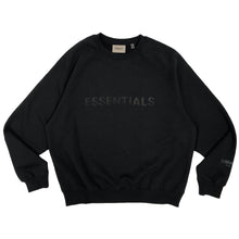 画像をギャラリービューアに読み込む, 【FOG ESSENTIALS】ESSENTIALS FRONT CREW SWEAT SHIRT BLACK