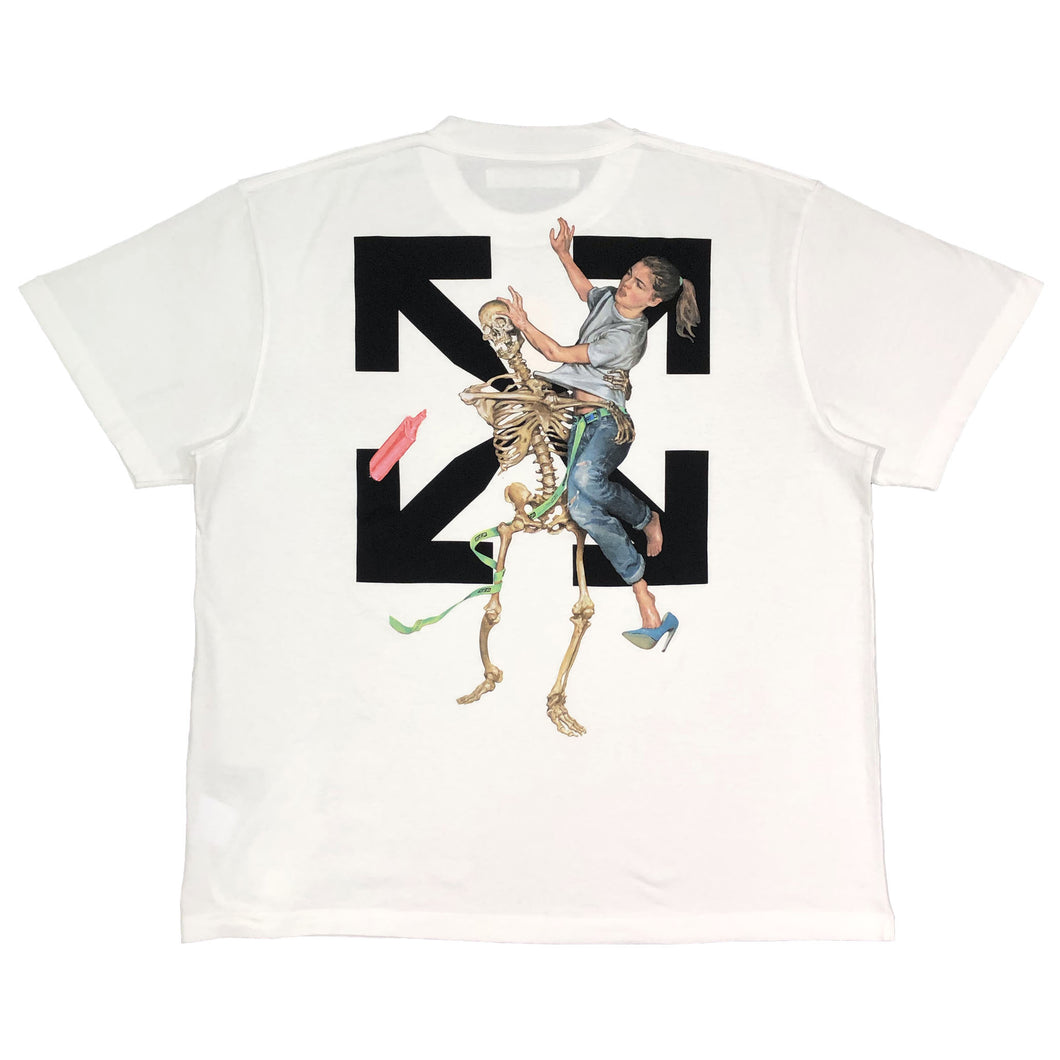 【Off-White】PASCAL SKELETON S/S OVER TEE WHITE BLACK