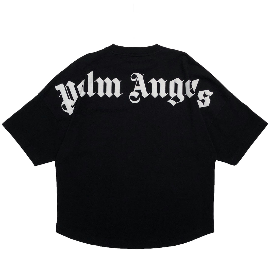 【Palm Angels】CLASSIC LOGO OVER TEE BLACK WHITE