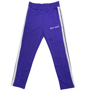 【Palm Angels】CLASSIC TRACK PANTS PURPLE WHITE