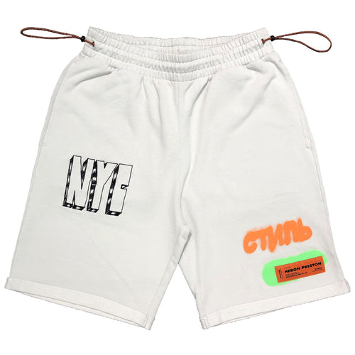 【HERON PRESTON】FLEECE SHORTS CTNMB SPRAY ICE GREY BLACK