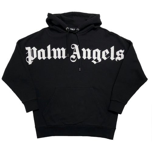 【Palm Angels】FRONT OVER LOGO HOODY BLACK WHITE