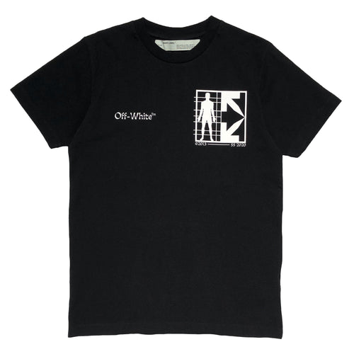 【Off-White】HALF ARROW MAN S/S SLIM TEE BLACK WHITE