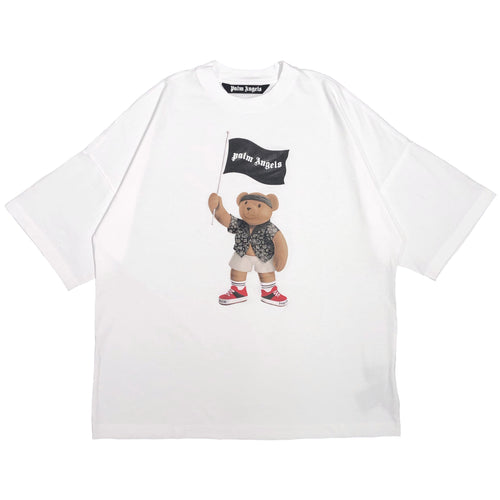 【Palm Angels】PIRATE BEAR LOOSE TEE WHITE WHITE