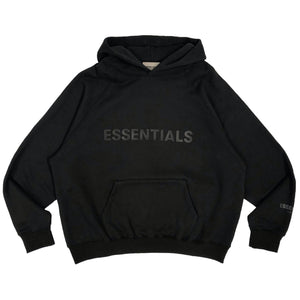 【FOG ESSENTIALS】ESSENTIALS FRONT LOGO HOODIE BLACK