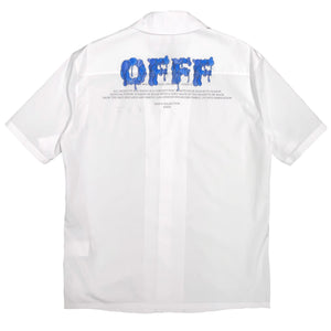 【Off-White】OFFF HOLIDAY SHIRT WHITE BLUE