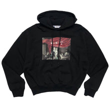 画像をギャラリービューアに読み込む, 【Off-White】CARAVAG PAINTING OVER HOODIE BLACK BLACK