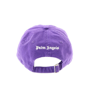 【Palm Angels】CLASSIC LOGO CAP PURPLE WHITE