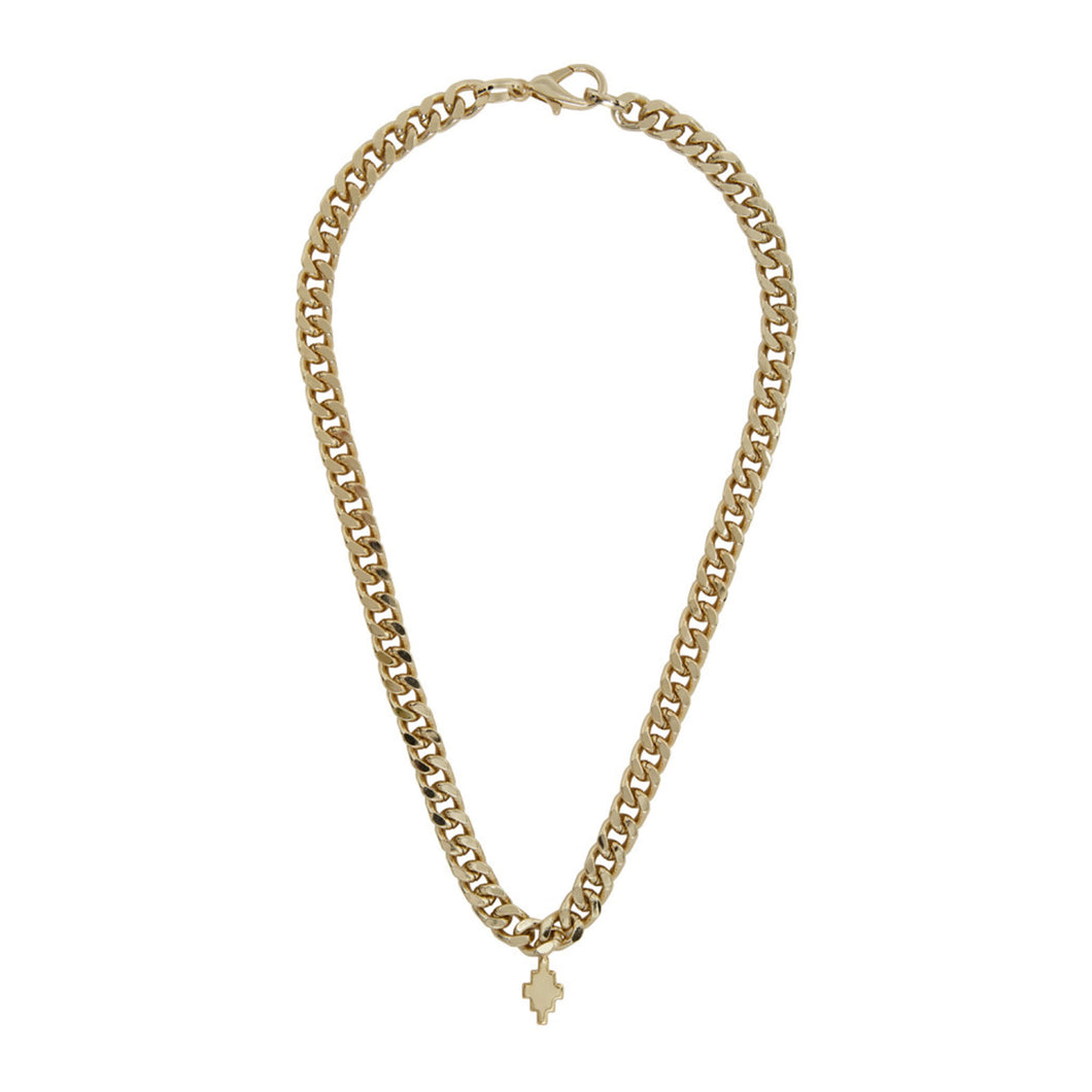 【MARCELO BURLON】CROSS NECKLACE GOLD NO COLOR