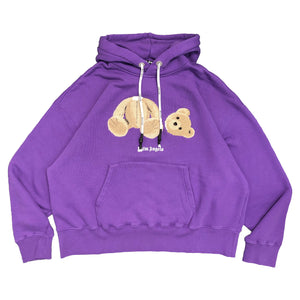 【Palm Angels】PALM ANGELS BEAR HOODY PURPLE BROWN