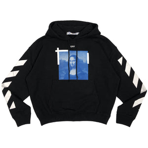 【Off-White】BLUE MONALISA OVER HOODIE BLACK WHITE