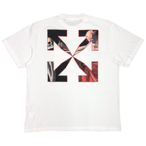 【Off-White】CARAVAGGIO S/S OVER TEE WHITE RED