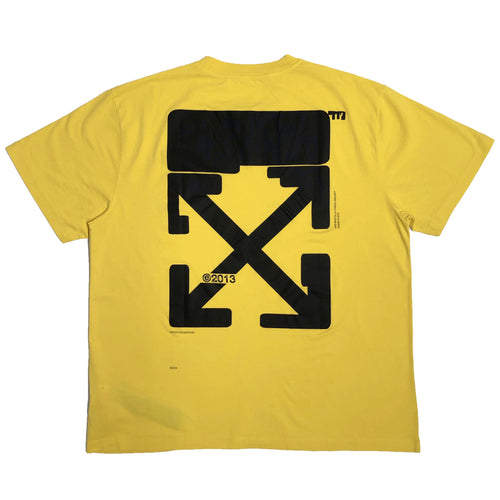 【Off-White】TECH MARKER S/S OVER TEE MAIZE BLACK