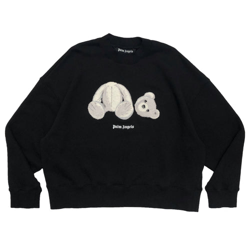 【Palm Angels】PALM ANGELS ICE BEAR CREW BLACK WHITE