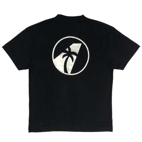 【Palm Angels】LOGO PALM AIRLINES TEE BLACK WHITE