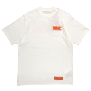 【HERON PRESTON】T-SHIRT OVER CONCRETE JUNGLE WHITE MULTI