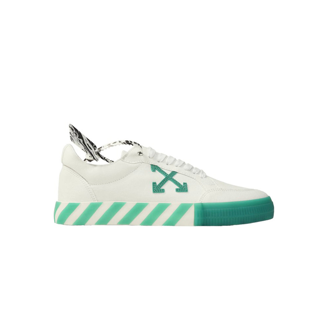 【Off-White】LOW VULCANIZED CANVAS WHITE GREEN