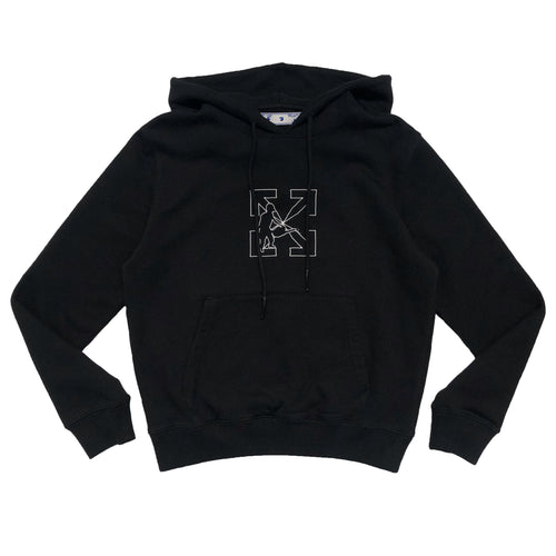 【Off-White】OW LOGO WORKERS SLIM HOODIE BLACK WHITE