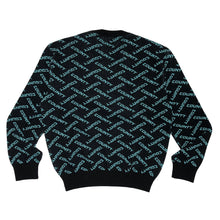 Load image into Gallery viewer, 【MARCELO BURLON】ALL OVER COUNTY KNIT CRE BLACK TURQUOISE