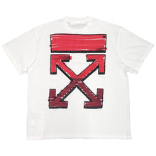 Load image into Gallery viewer, 【Off-White】MARKER S/S OVER TEE WHITE RED