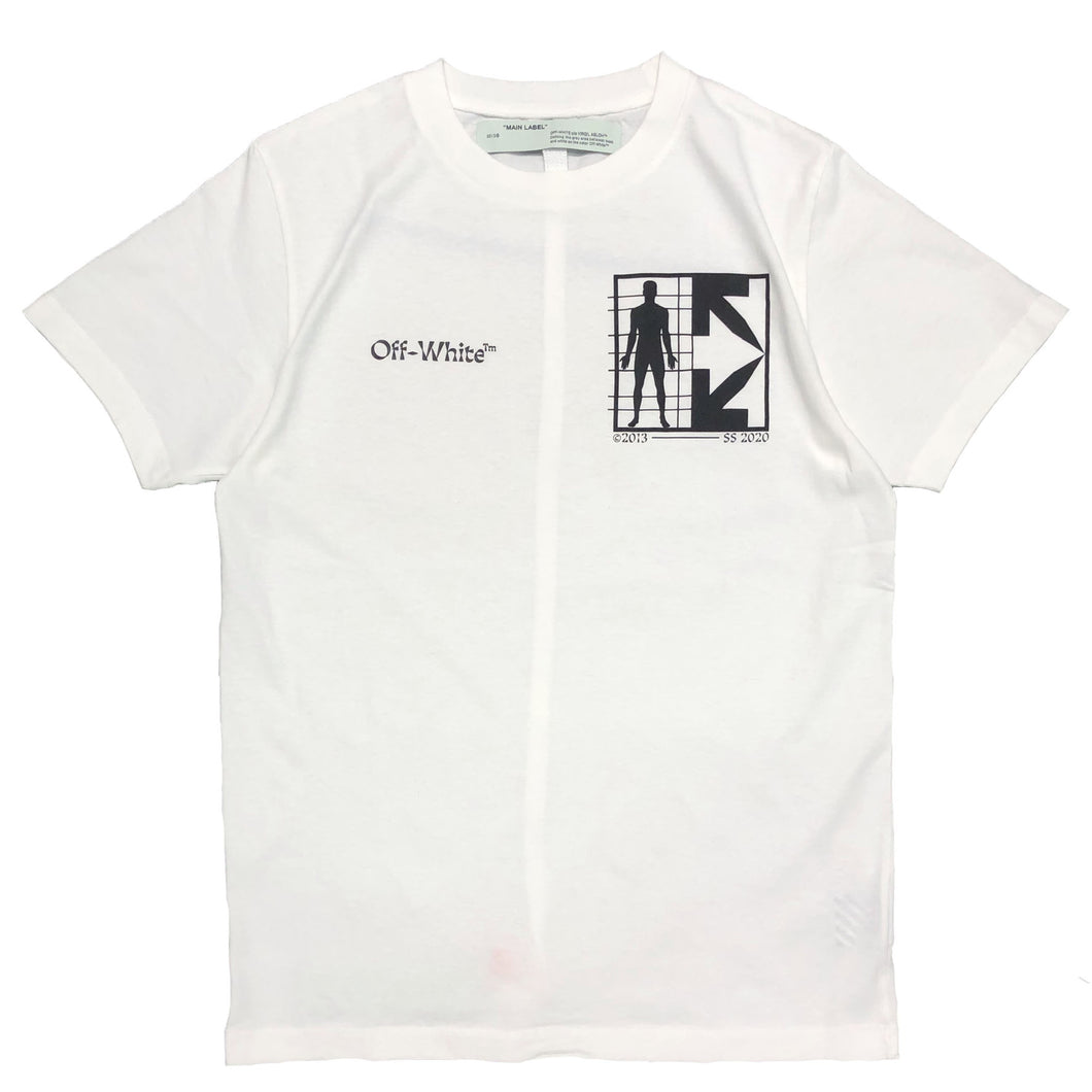 【Off-White】HALF ARROW MAN S/S SLIM TEE WHITE BLACK
