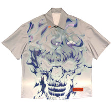 画像をギャラリービューアに読み込む, 【HERON PRESTON】SHIRT SS SKULL REFLEX ICE GREY MULTICOLO