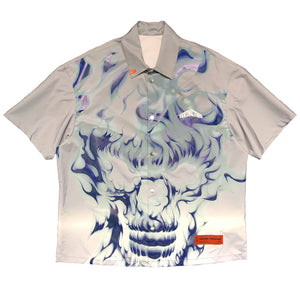 【HERON PRESTON】SHIRT SS SKULL REFLEX ICE GREY MULTICOLO