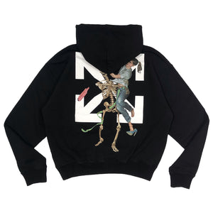 【Off-White】PASCAL SKELETON OVER HOODIE BLACK BLACK
