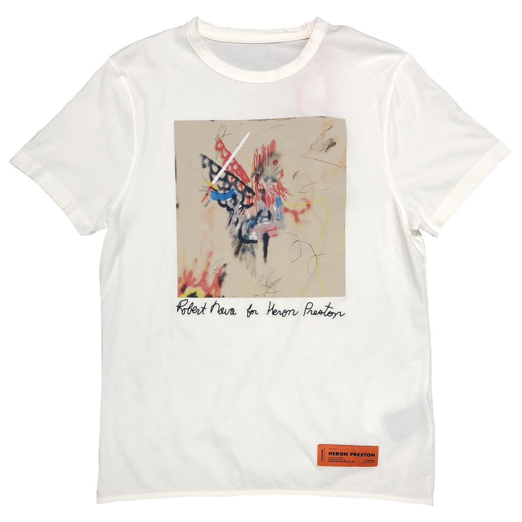 【HERON PRESTON】T-SHIRT REG ROBERT NAVA WHITE MULTICOLOR