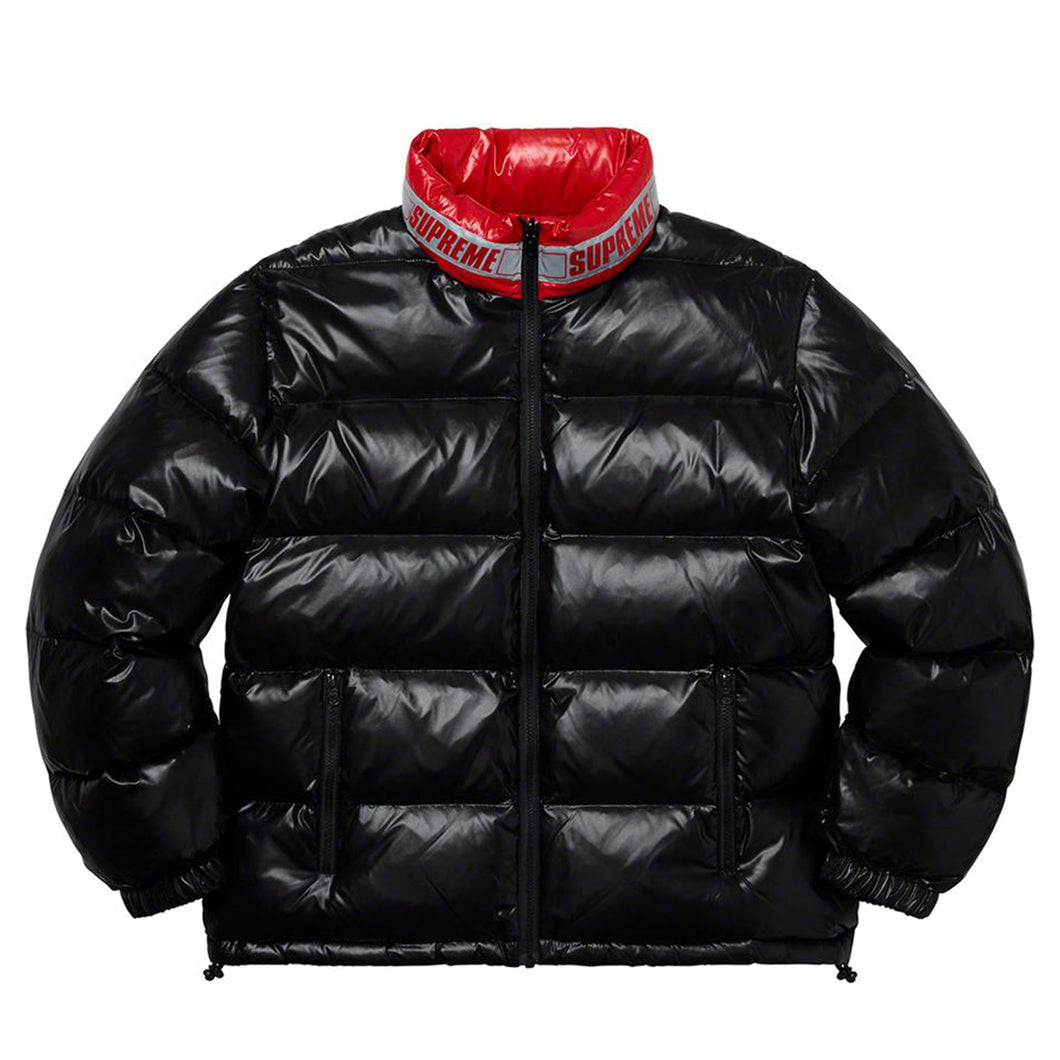 【Supreme】SHINY REVERSIBLE PUFFY JACKET BLACK