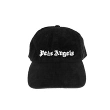 Load image into Gallery viewer, 【Palm Angels】CORDUROY CLASSIC LOGO CAP BLACK WHITE