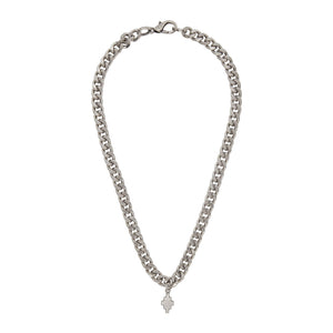 【MARCELO BURLON】CROSS NECKLACE SILVER NO COLOR
