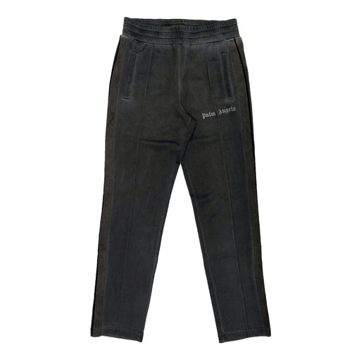 【Palm Angels】SLIM GARMENT DYED TRACK PANTS BLACK BLACK