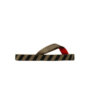 【Off-White】INDUSTRIAL BELT FLIP FLOP TAUPE GRAY
