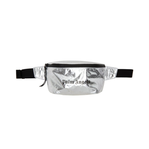 【Palm Angels】PALM ANGELS FANNY PACK SILVER BLACK
