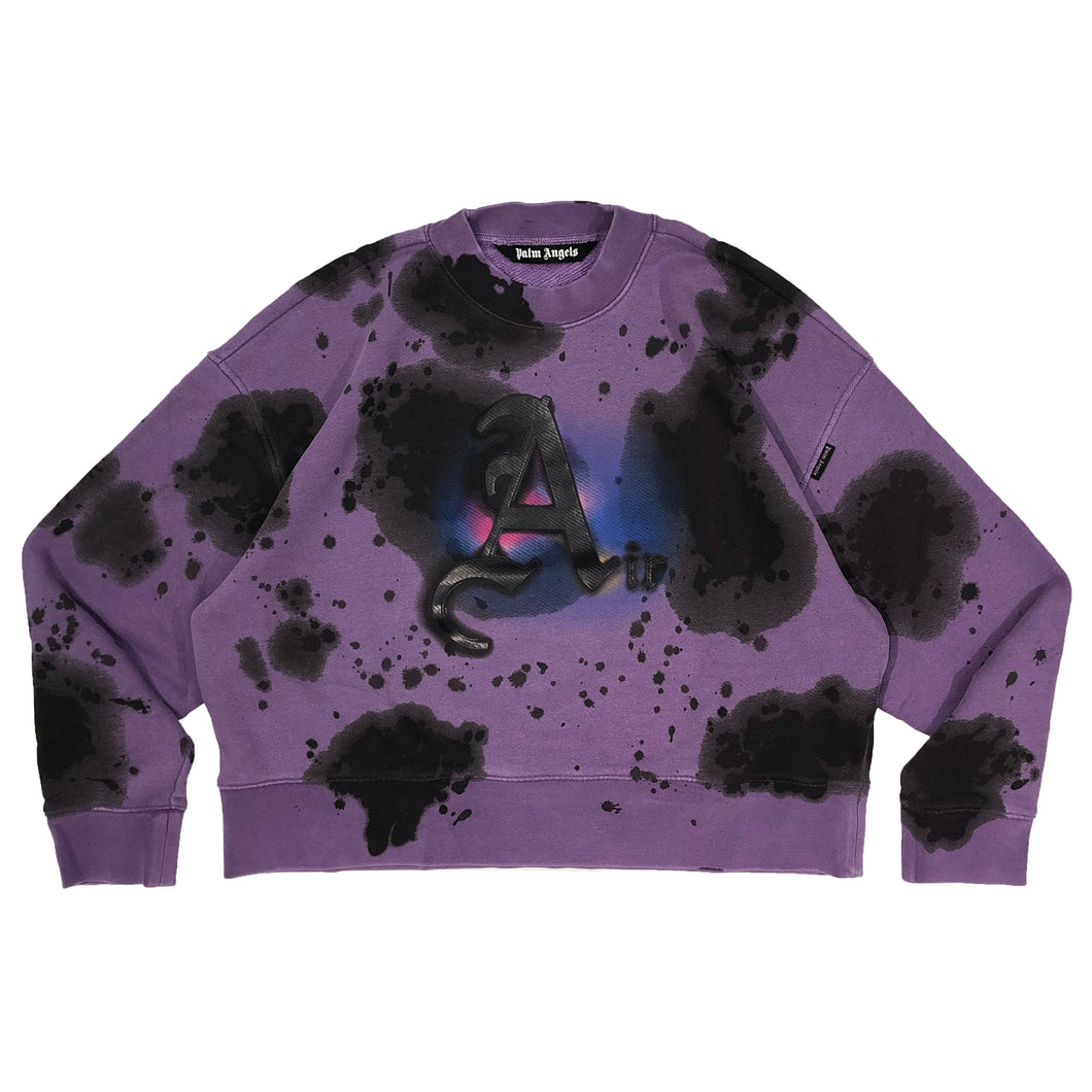 【Palm Angels】AIR TIE DYE CREW LILAC BLACK