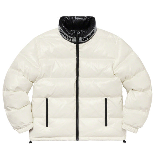 【Supreme】SHINY REVERSIBLE PUFFY JACKET WHITE