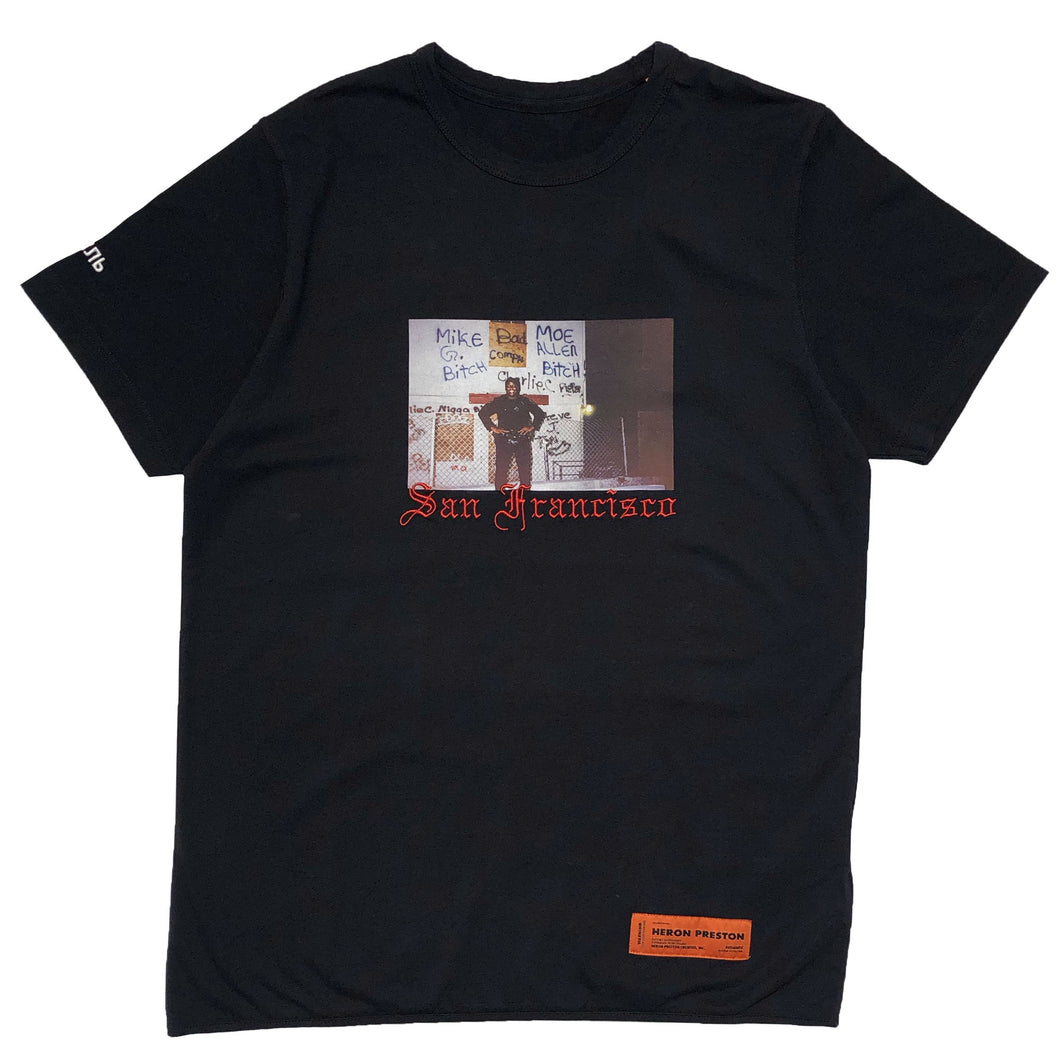 【HERON PRESTON】T-SHIRT REG HERON DAD BLACK MULTICOLOR